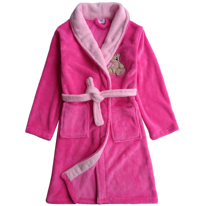 100% polyester microfiber Bathrobe with embroidery logo