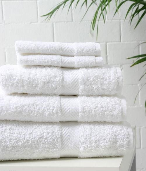 100% Cotton White Bath Towel