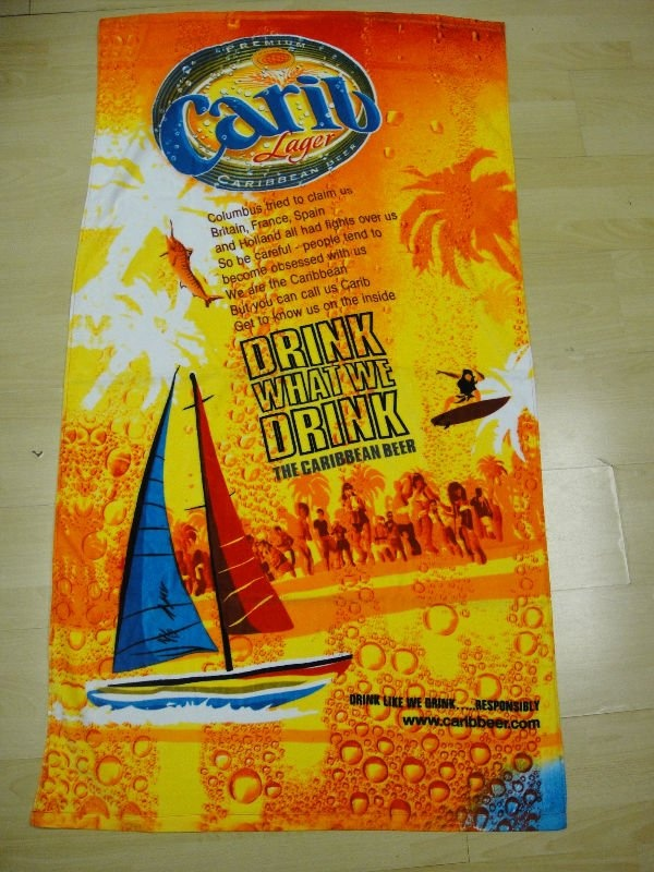 Customized Microfiber Reactive Printed Beach Towel