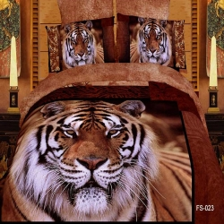 3D animal custom printed bedding set