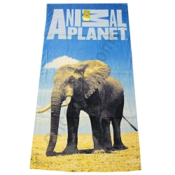 100% Cotton Velour Reactive CMYK & PHOTO Printed Beach Towel