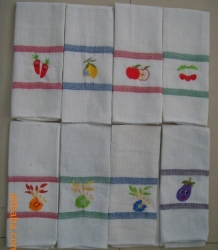 Embroidery Waffle Kitchen Towels