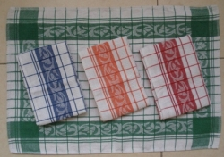 Cotton Waffle Jacquard Kitchen Towels