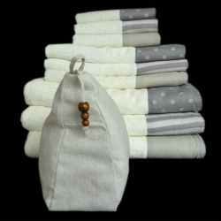 Cotton Towel Sets With Bag Packing