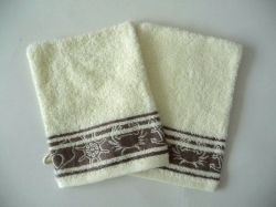 100% Cotton Jacquard Terry Towel Gloves