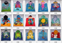 beach towel with hood,100% Cotton Terry Kids Hooded Towel,soft Baby Hooded Towel